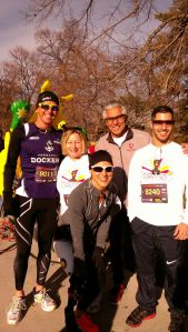 Our 2013 Turkey Trot squad featuring a very special Aussie guest